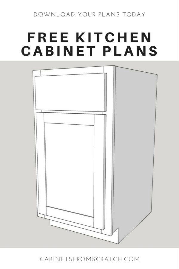 Our Home From Scratch, Kitchen Cabinets Plans Diy